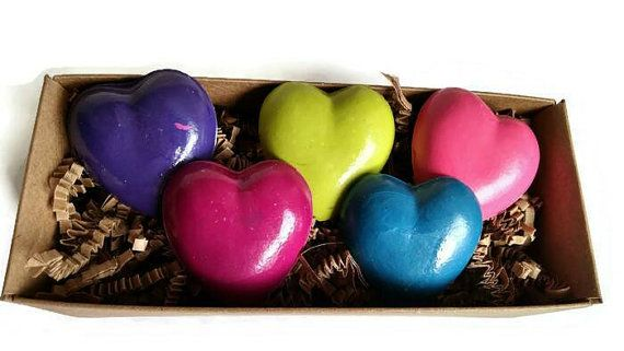 Heart crayons in box set heart love party favor birthday