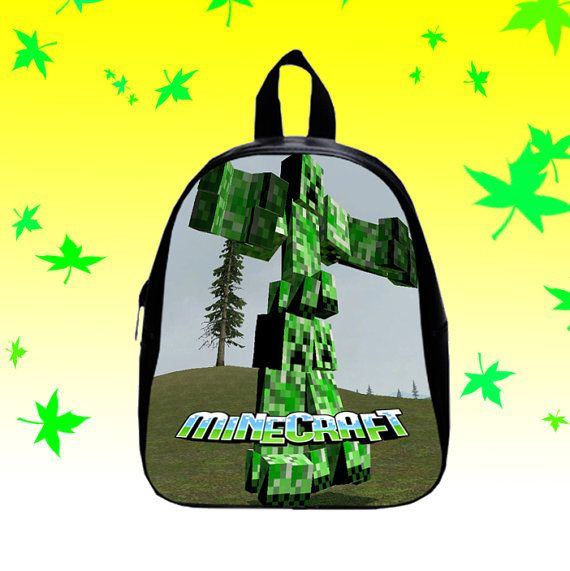 Creepers Minecraft Seeds Game  Backpack/SchoolBags by FACIALBAG