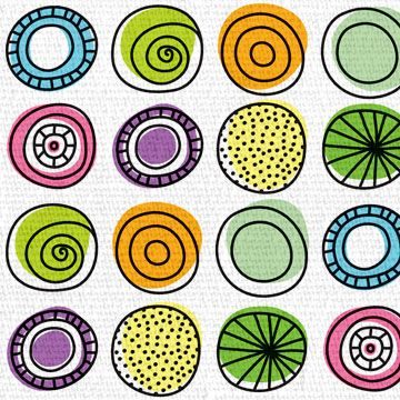 Colorful Circles - ankepanke design / Anke van der Meer