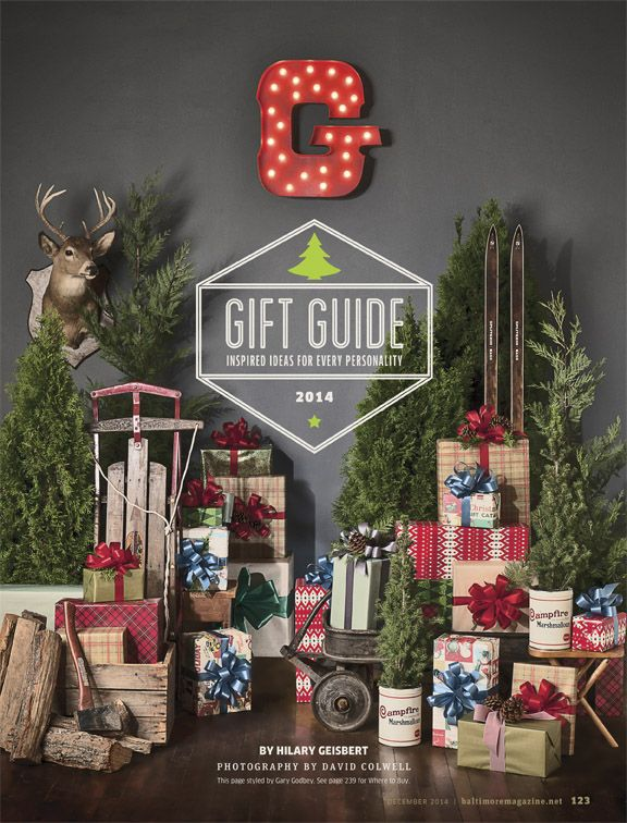 Baltimore Magazine. December 2014. Gift Guide. Photography by David Colwell.