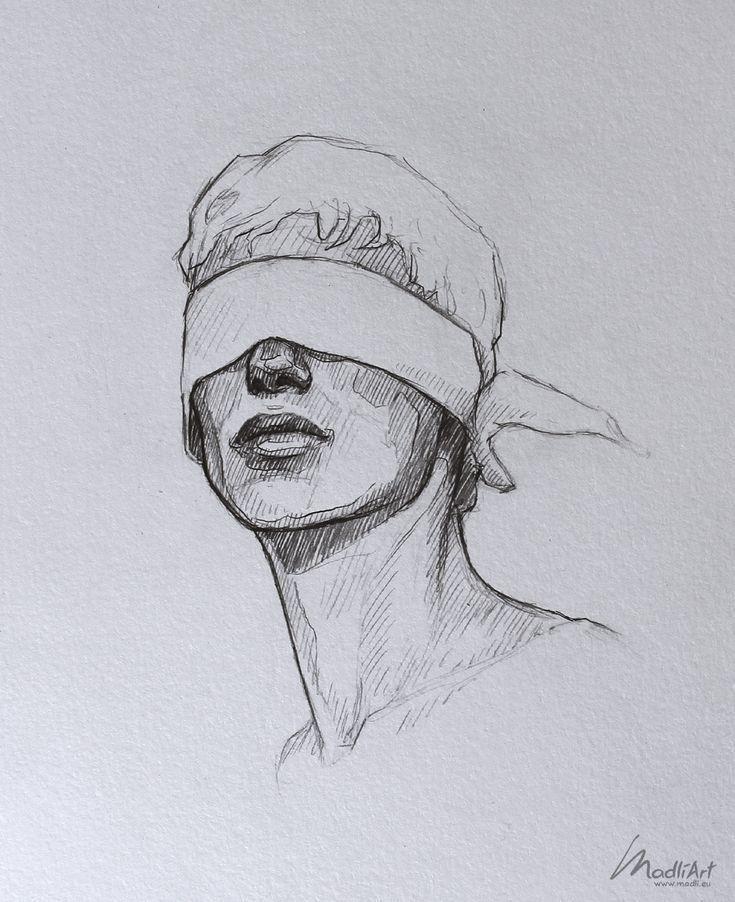 My Sketchbook Art I Dreamy Blindfolded Drawing Guy I Cute Sketch I Sketchy Art Drawings Art Art Sketches Art Sketchbook Cool Art Drawings