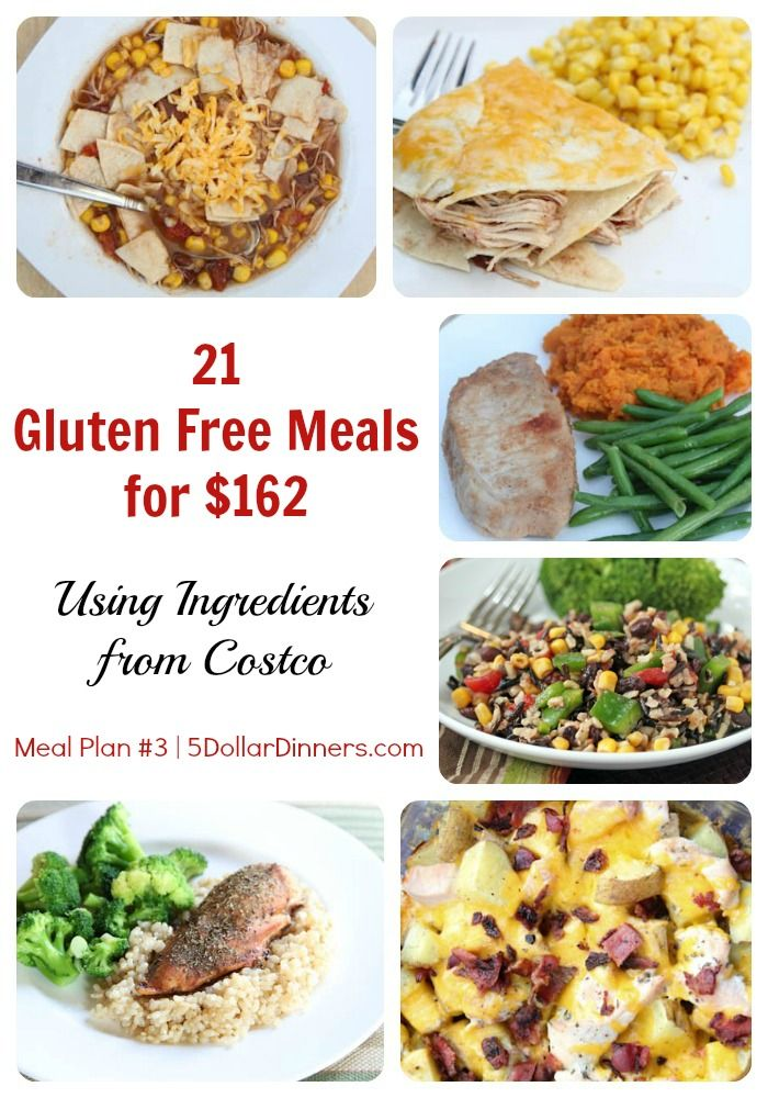 21 Gluten Free Meals for only $162 ~ Using Ingredients from Costco | 5DollarDinners.com