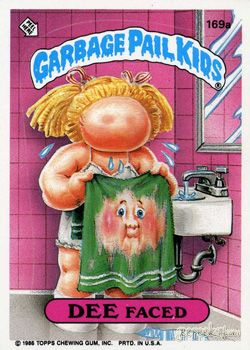 GARBAGE PAIL KIDS - Original Series 5 Card Collection — Dee Faced