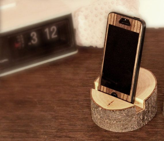 natural wood iphone stand by Mooth on Etsy