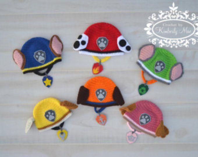 Pata de patrulla inspirado sombrero y Collar