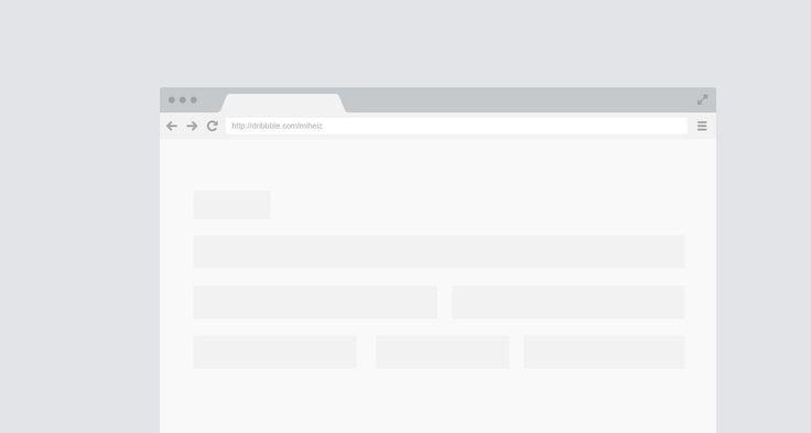 Flat Chrome Frame PSD