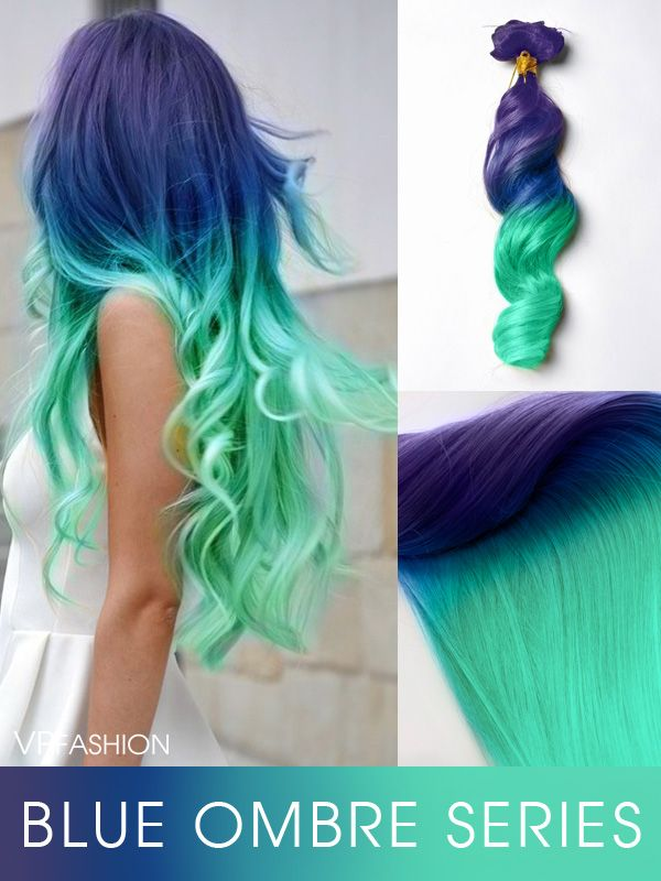 12 best vpfashion extensions images on pinterest colorful hair blue series colorful clip in c047 clip in hair extensionsmermaid pmusecretfo Gallery