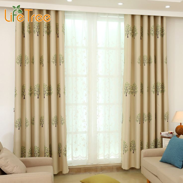 1pc tree printed curtains for living room bedroom european elegant curtain kids room window decoration custom