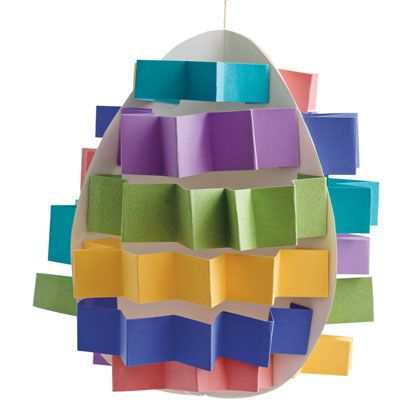 Pop-up Eggs - Make your Easter extra festive with this 3-D egg made from colorful, accordion-folded paper strips.