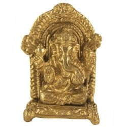 Get online Brass Ganesha on Chowki at Puja Shoppe. Product code - 000173.  Product Price: Rs. 399. Stock Available, Delivered in 3-4 Business Day, Shop now: https://www.pujashoppe.com/brass-ganesha-on-chowki.html?___SID=U