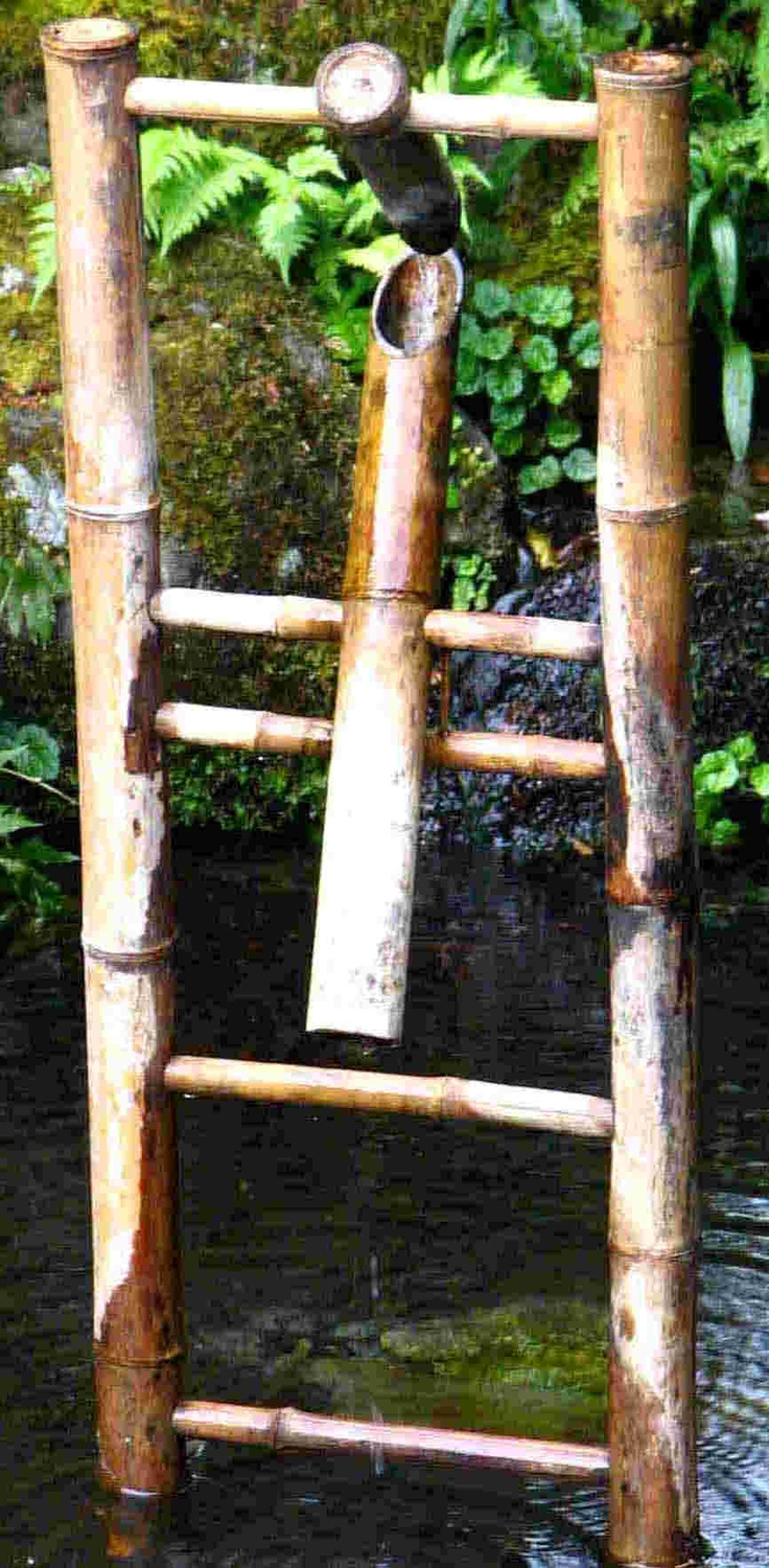 Moving Bamboo Fountain. Bamboo Water FountainWater FountainsJapanese Garden  ...