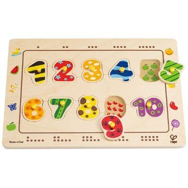 Houten puzzel cijfers  Met deze vrolijke houten puzzel kunnen kinderen op verschillende manieren leren tellen en worden de rekenmeesters van de toekomst!  EUR 11.99  Meer informatie
