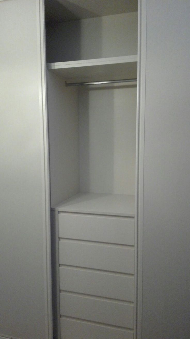 Detalle interior y nueva cajonera modelo box en armario - Cajoneras interior armario ...