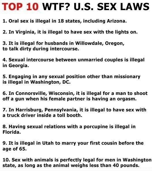 Weird sex laws states america