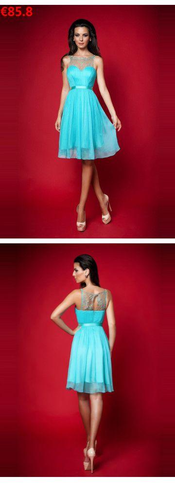 A-Linie U-Boot-Ausschnitt Perlenstickerei aus Chiffon Blaue Abschlussballkleider/Cocktailkleider Knielang 2016                                 Specifications                                              ÄRMELLÄNGE          Ärmellos                                  AUSSCHNITT          U-Boot-Ausschnitt                                  RÜCKEN          Reißverschluss                                  #neuekollecktion2018#brautmodeschantal#love#girls#instabrides#cocktailkleider knielang