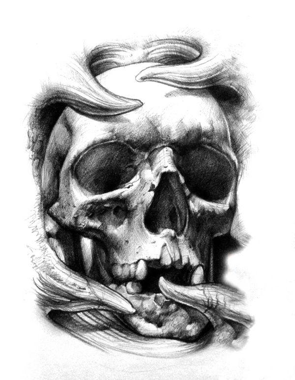 Pin de Jerry Mathenia em Great tattoos ideas   Sociedade ...   Black And Grey Skull Tattoo Designs