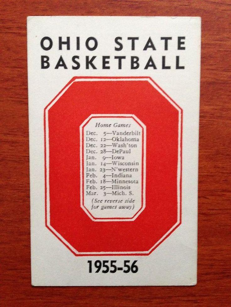 #vintage 1955-56 ohio state buckeyes basketball schedule osu from $16.99