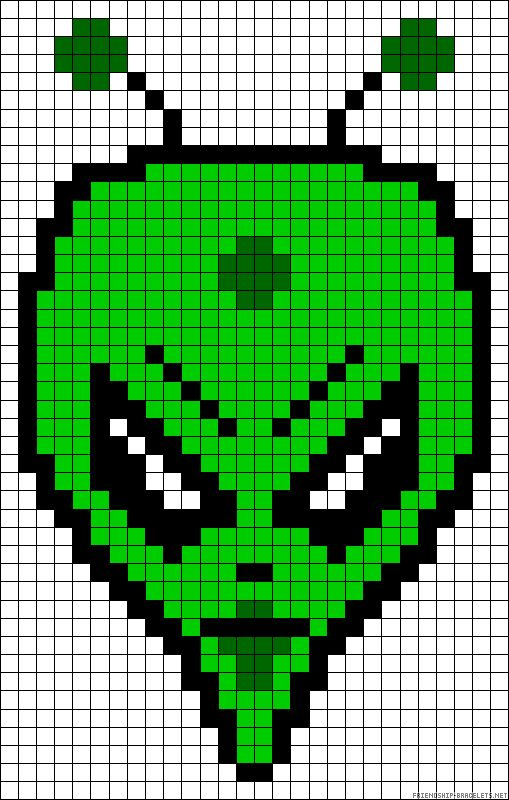Alien Perler Bead Pattern Minecraft Pinterest Aliens