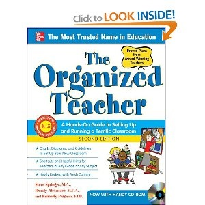 "I have thisboook called ""the Organized Teacher"" and it is an excellent guide to have as new teachers. It has excellent tips for instructors to get allong with a principal, arrange the desks in the room and much helpful ideas."