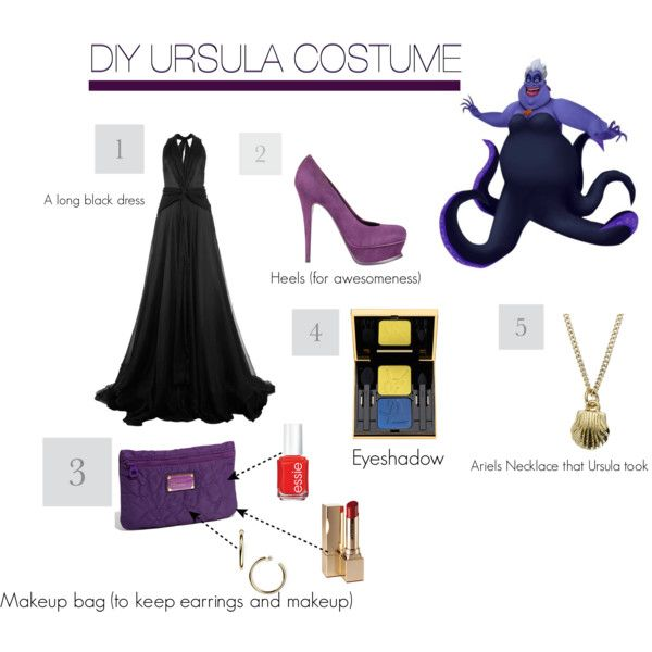 DIY Ursula (The Little Mermaid) Costume  by supericoniac4life on Polyvore  sc 1 st  Pinterest & The 49 best Mermaid Costumes images on Pinterest | Mermaids Mermaid ...