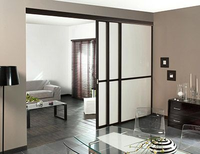 une s paration de pi ce dans l esprit loft contemporain m me et loft. Black Bedroom Furniture Sets. Home Design Ideas