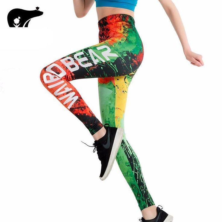 Brand Slim Leggings Graffiti Fire 3D Print push up leggings Women WAIB