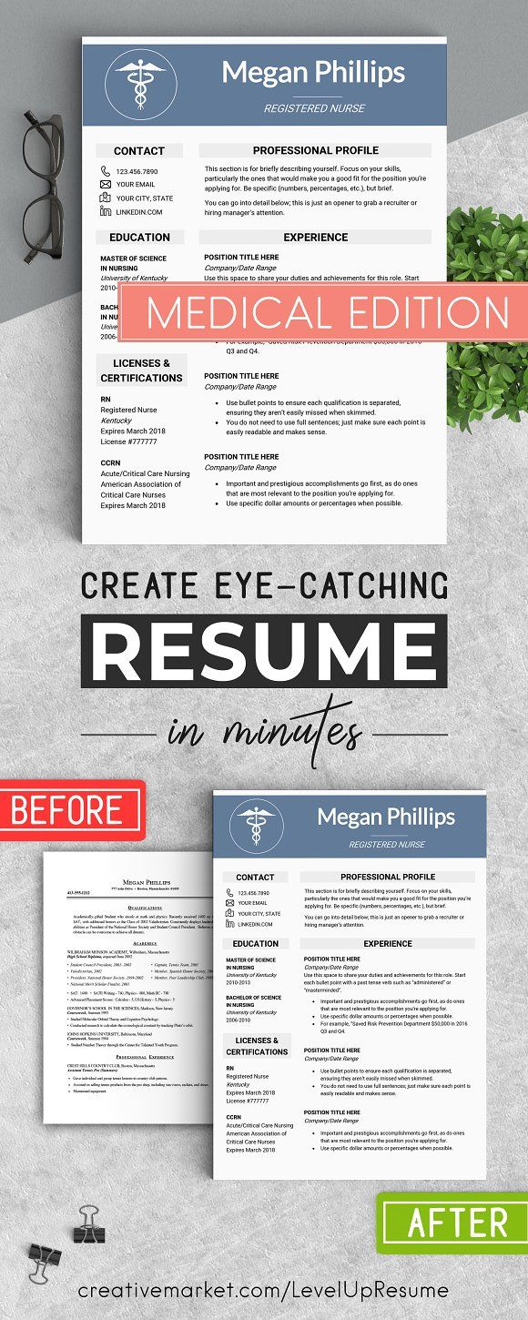 Medical Resume Template  @creativework247