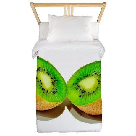 kiwi green fruit Twin Duvet Cover on CafePress.com