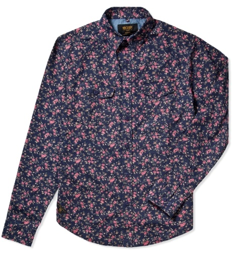 10 Deep Navy Roses Brooklyn Botanic Shirt