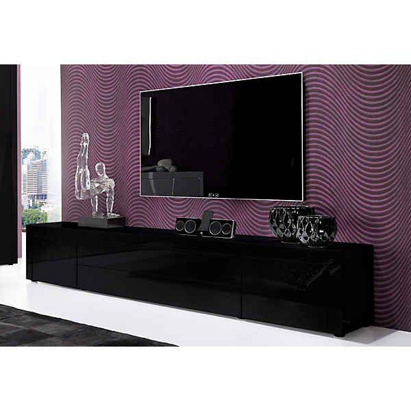 sideboard h ngend schwarz. Black Bedroom Furniture Sets. Home Design Ideas