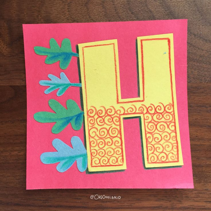 Letter H!. This is part of a paper art type I'm making for 36 days of type and also part of my 100 days project about paper art! :)