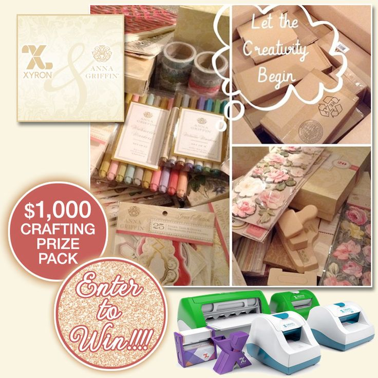 Enter to Win $1,000 Prize Pack of Crafting Supplies and Products from Anna Griffin and Xyron on www.brendasweddingblog.com
