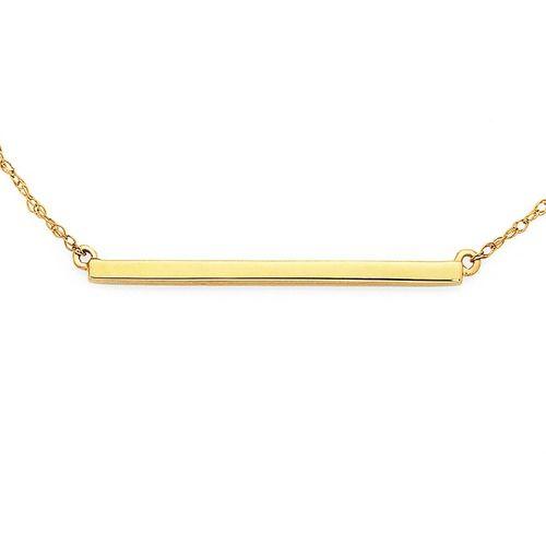 9ct Gold 45cm Bar Necklace