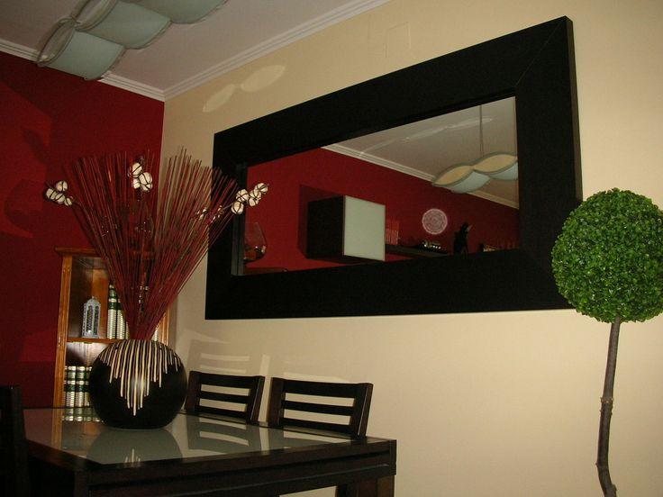17 mejores ideas sobre espejos decorativos para sala en for Espejos largos modernos