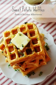Sweet Potato Waffles | recipes | Pinterest | Potato Waffles, Sweet ...