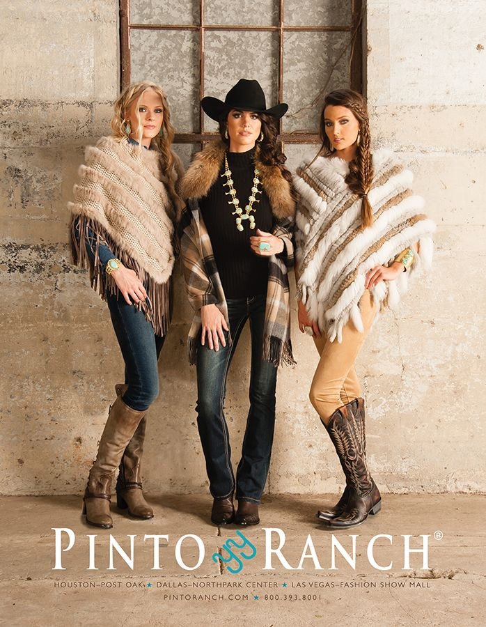 Cowboys & Indians January 2017 featuring women's western fashion - luxe fur and gold.