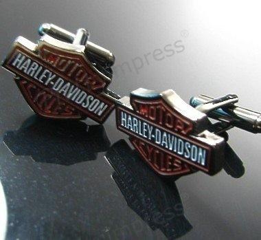 Stainless Steel Harley Davidson Cufflinks Cuff Links/Buttons - Dad