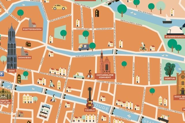 City map of Utrecht at Barbeton.