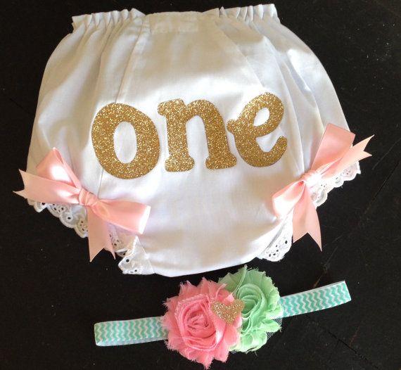 Gold Mint and Pink Cake Smash set by PaisleyPrintsSpokane on Etsy, $6.95