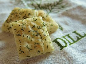 White cheddar and dill crackers