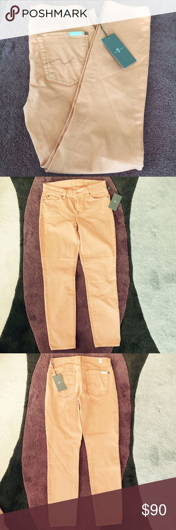 🆕 7 For All Mankind Peach Jeans Pants 🆕 7 For All Mankind Peach Jeans Pants. NWT. Color most resemble the cover picture. In between skinny and straight pants. 7 For All Mankind Pants Straight Leg