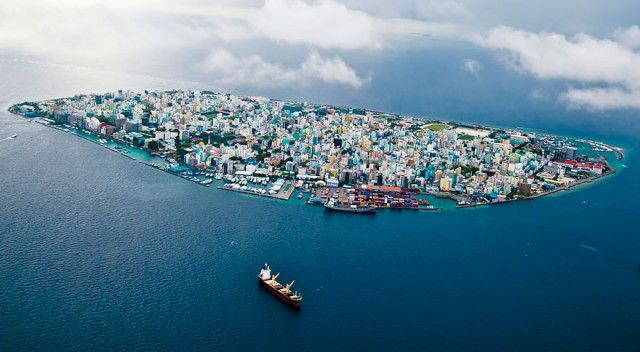 Male, Maldives Top View Drone Photography