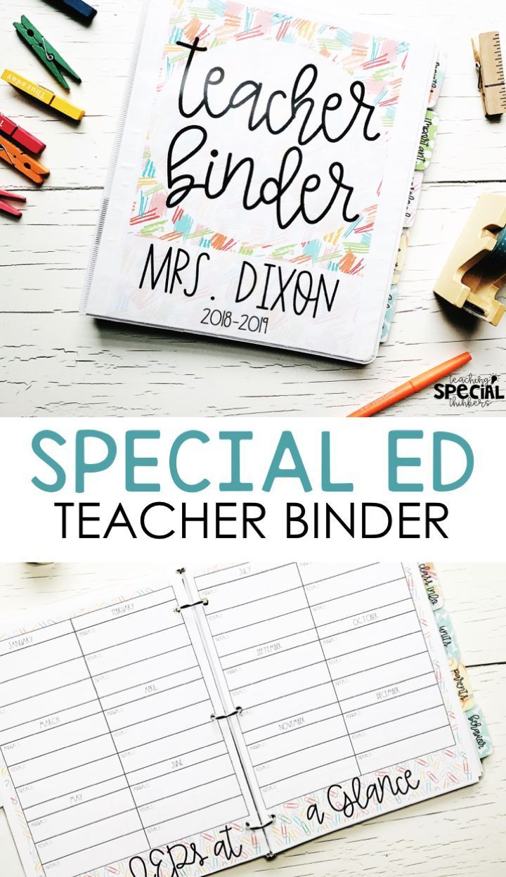 The Special Educator S Everything Binder Sped Teacher Lesson