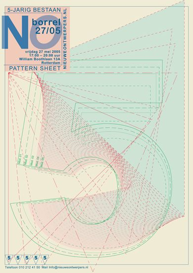 5 Year Jubilee Poster for NO.nl by Studio Klaster