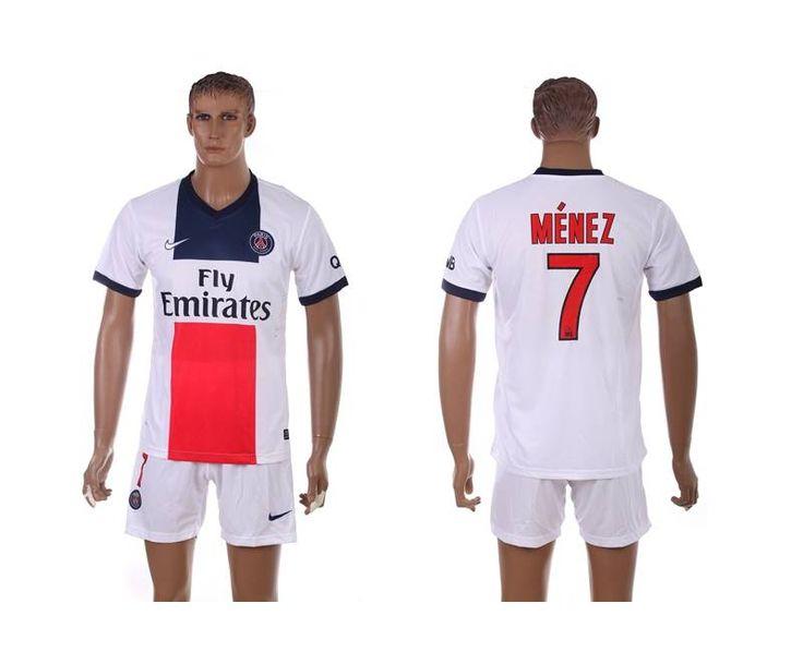 Maillot de Foot PSG (Menez 7) Exterieur Nike Collection 2013 2014 blanc Pas Cher http://www.korsel.net/maillot-de-foot-psg-menez-7-exterieur-nike-collection-2013-2014-blanc-pas-cher-p-2897.html
