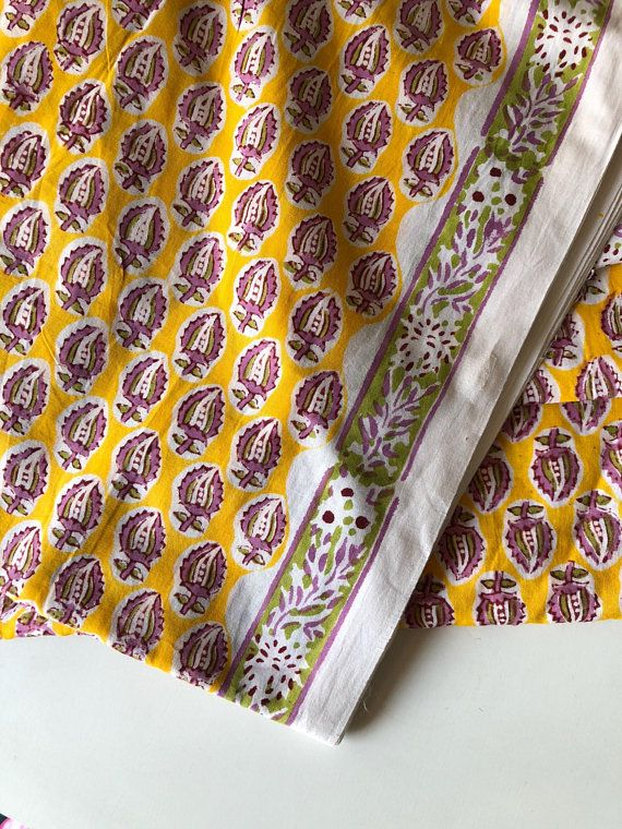5 Yard Hippie Indian Paisley Design Cotton Quilting Dress Making Quilting Fabric