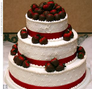 love this cake, but I would want the ribbons to be blue and purple instead of red. Red would be my accent color