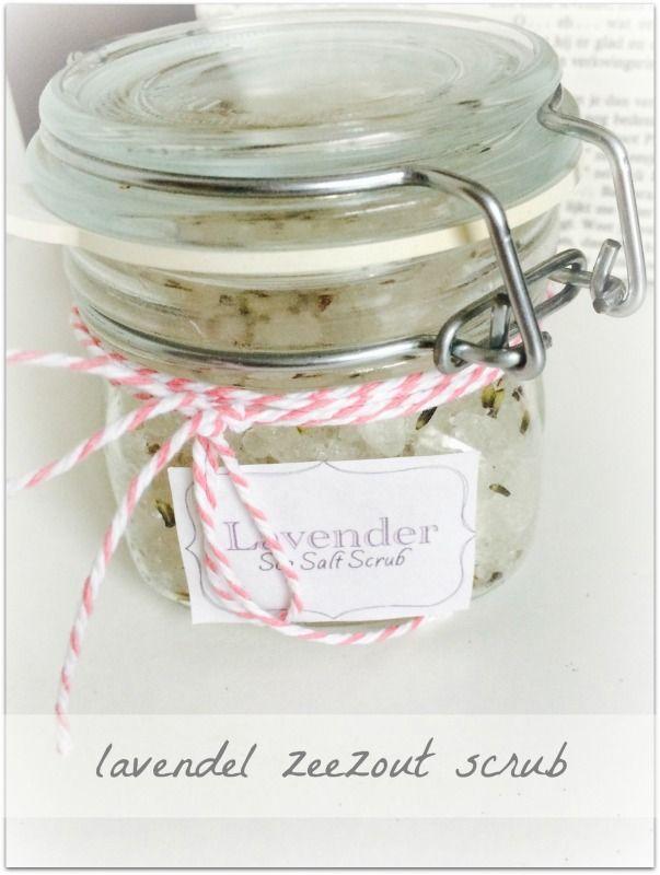 lavendel zeezout scrub