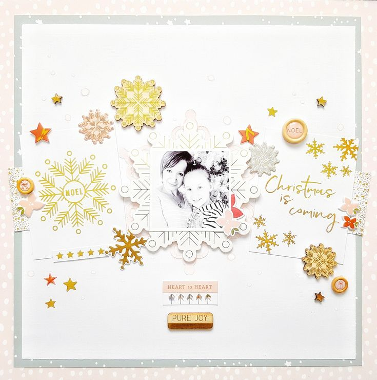 Christmas is Coming layout by Amanda Baldwin for Pinkfresh Studio featuring the December Days collection