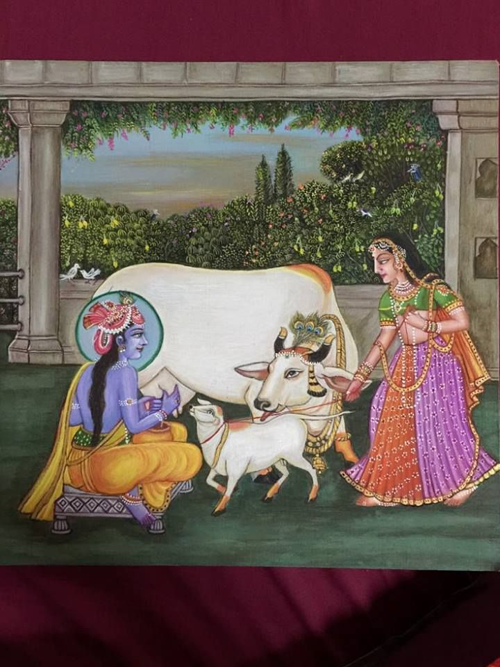 KRISHH provides Pure Hand Painting Pictures of Lord Krishna. #Exhibition #Fashion #Clothing #Art #Craft #Footwear #PastelPeacock #CityShorAhmedabad